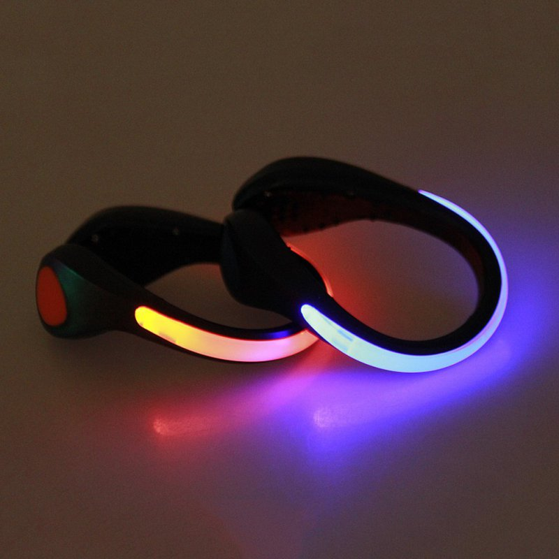 LED Warning Light Safety Night Running Shoe Safety Clips ...