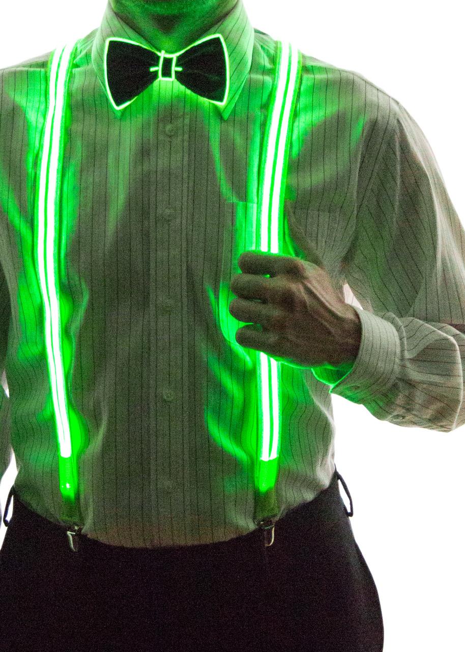 Light Up Stripe Suspenders - Neon Nightlife