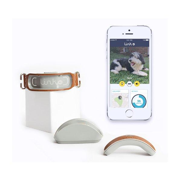 Link Plus Smart Dog GPS Tracker - Classic Model - Activity Tracker, Waterproof, Genuine Leather