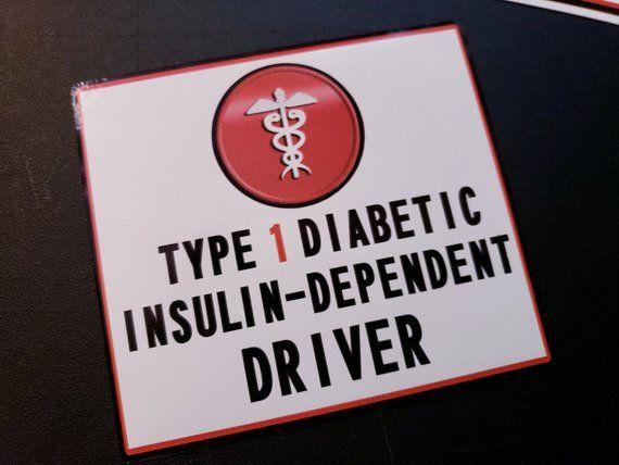 Medical Alert- Type 1 Diabetic Insulin-Dependent Driver ...
