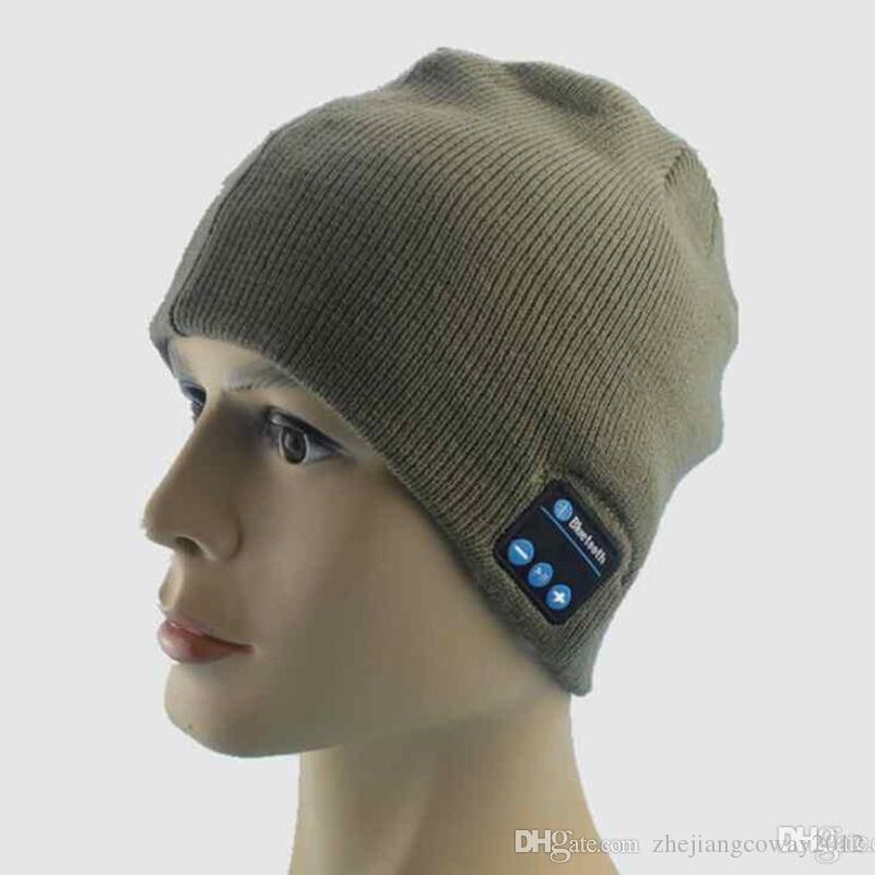 Men Women Bluetooth Hat Wireless Beanie Smart Hat ...