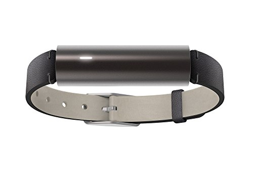 Misfit Ray - Fitness + Sleep Tracker - Carbon Black with Black Leather Band