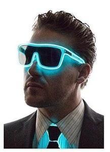 Neon Nightlife Aqua Frame/ Tinted Single Lens Tron Style ...