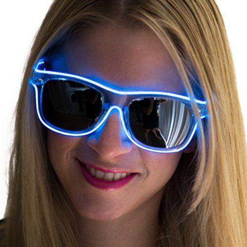 Neon Nightlife Blue Frame/Slightly Tinted Lens Wayfarer ...