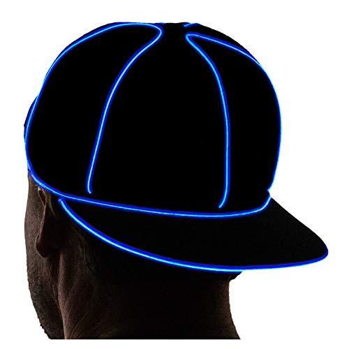 NEON NIGHTLIFE Light Up Snapback Hat - BLUE
