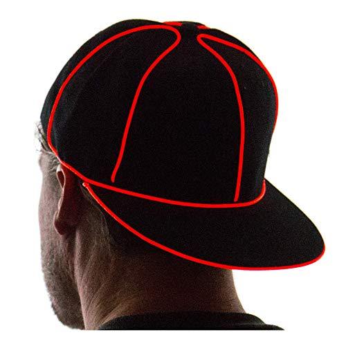 NEON NIGHTLIFE Light Up Snapback Hat - RED