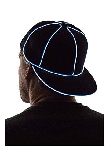 NEON NIGHTLIFE Light Up Snapback Hat - WHITE