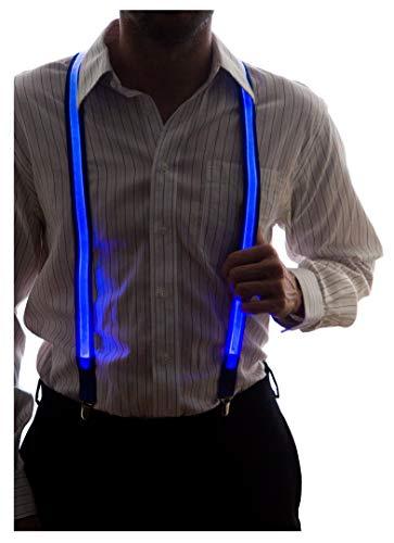 Neon Nightlife Men's Light Up LED Suspenders - Blue