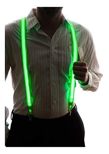 Neon Nightlife Men's Light Up LED Suspenders - Green