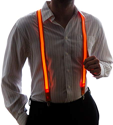 Neon Nightlife Men's Light Up LED Suspenders, One Size ...