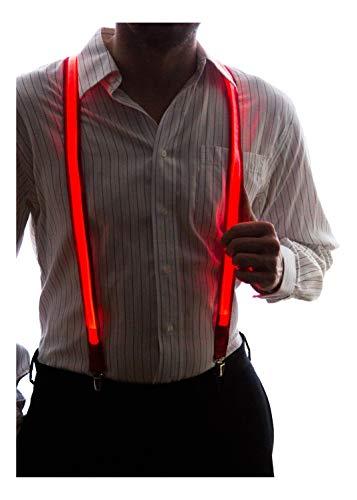 Neon Nightlife Men's Light Up LED Suspenders - Red