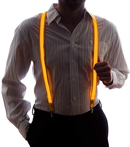 Neon Nightlife Men's Light Up LED Suspenders - Yellow