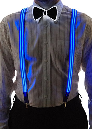 Neon Nightlife Stripe Light Up LED Suspenders for Men ...