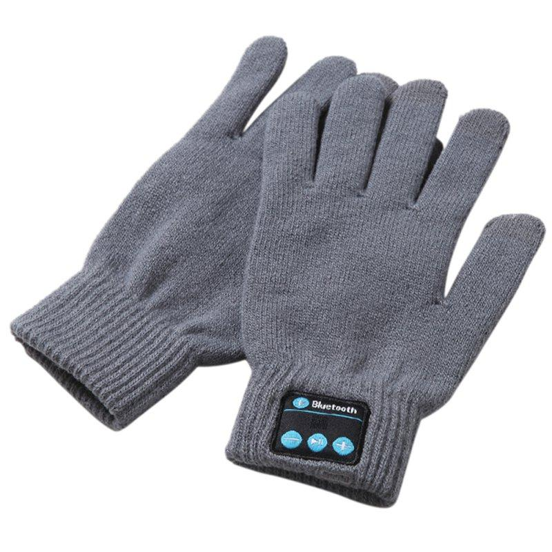 New Knitted Bluetooth Gloves Touch Screen Headset Speaker ...