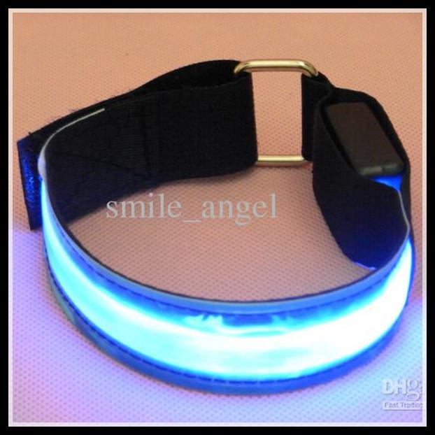 Night Run Walk Cycling Safety Lights LED Armbands Flashing ...