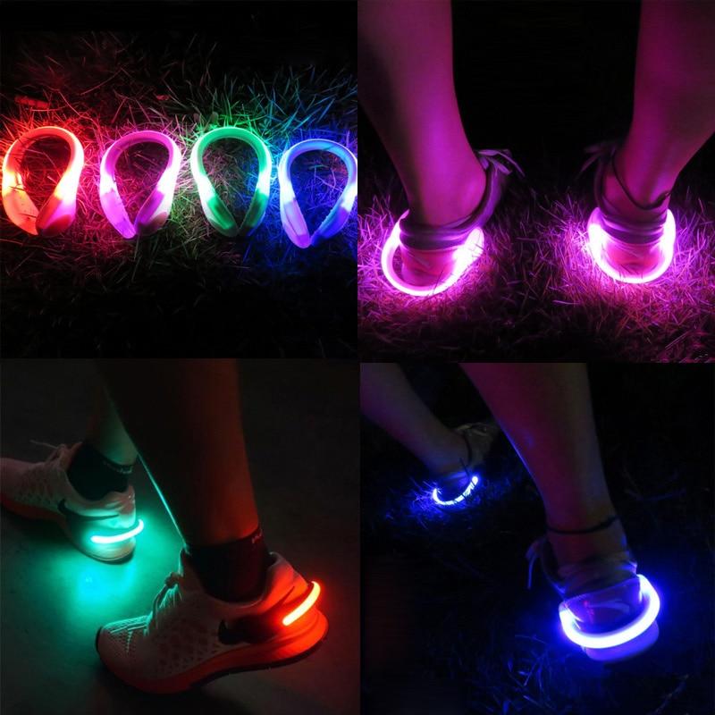 Novelty LED Luminous Shoe Clip Light Safety Warning LED ...