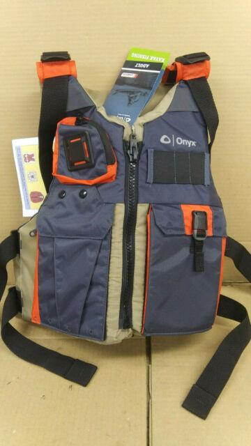 Onyx Adult Kayak Fishing Paddle Life Jacket Universal Tan ...