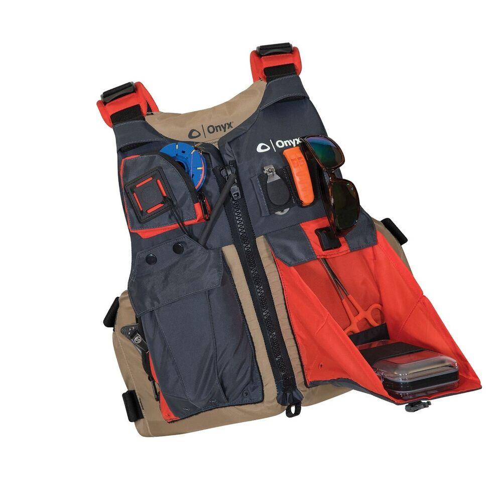 ONYX Kayak Fishing Life Jacket, Tan Oversize   eBay