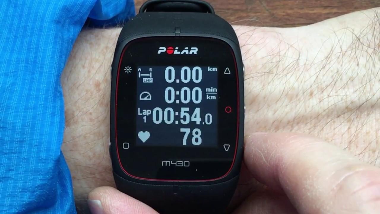 Polar M430 Interface - YouTube