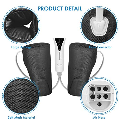 QUINEAR Leg Massager with Heat Calf Wraps Massage for Foot ...