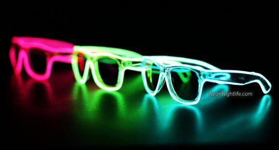 Rayban Wayfarer Inspired, Sunglasses, Glow in the Dark ...