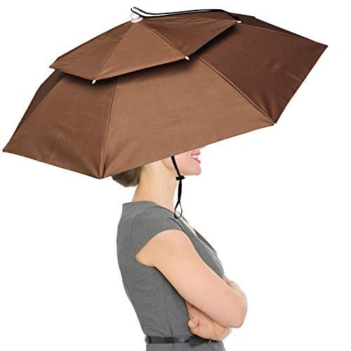 "RedSwing 37"" Diameter Large Umbrella Hat - Coffee"