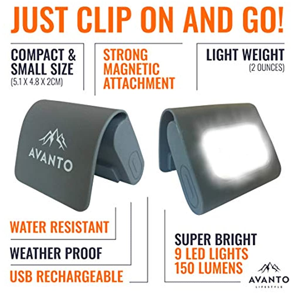 Reflective Gear AVANTO Clip On Running Light, Addon To For ...