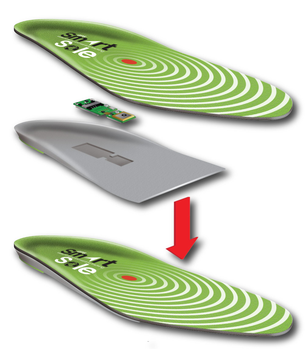 SmartSole Allows Tracking Through Your Shoes - GPS Tracklog