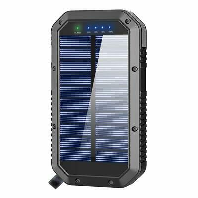Solar Charger, 25000Mah Battery Solar Power Bank Portable ...