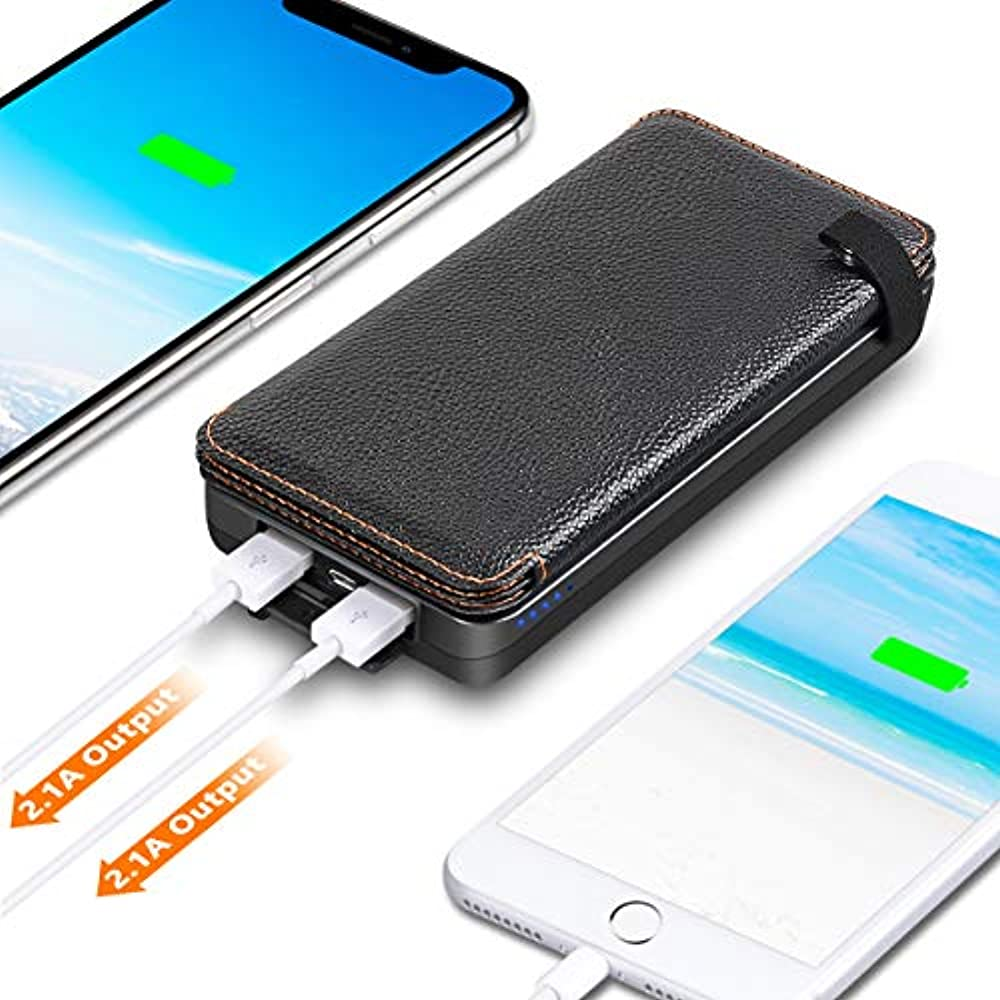 Solar Charger 25000mAh, IXNINE Power Bank 4 Panels For ...