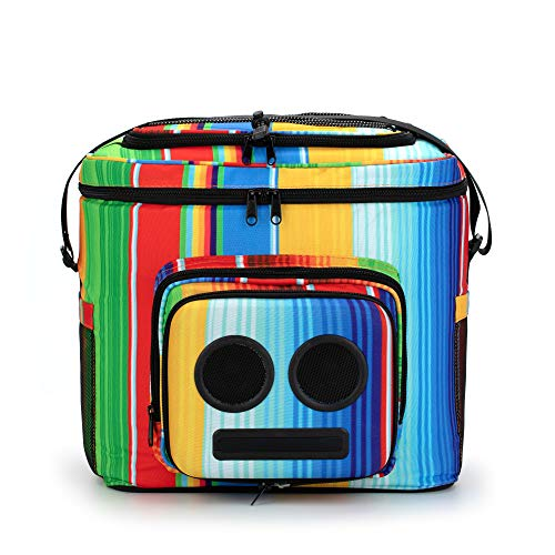 The #1 Cooler with Speakers & Subwoofer (Bluetooth, 20-Watt) - (Rainbow, 2020 Edition)