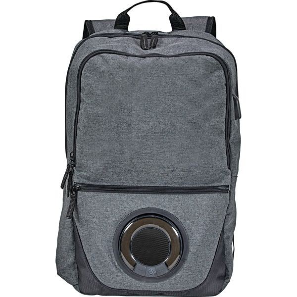The Blare Bluetooth Speaker 15'' Computer Backpack lets ...