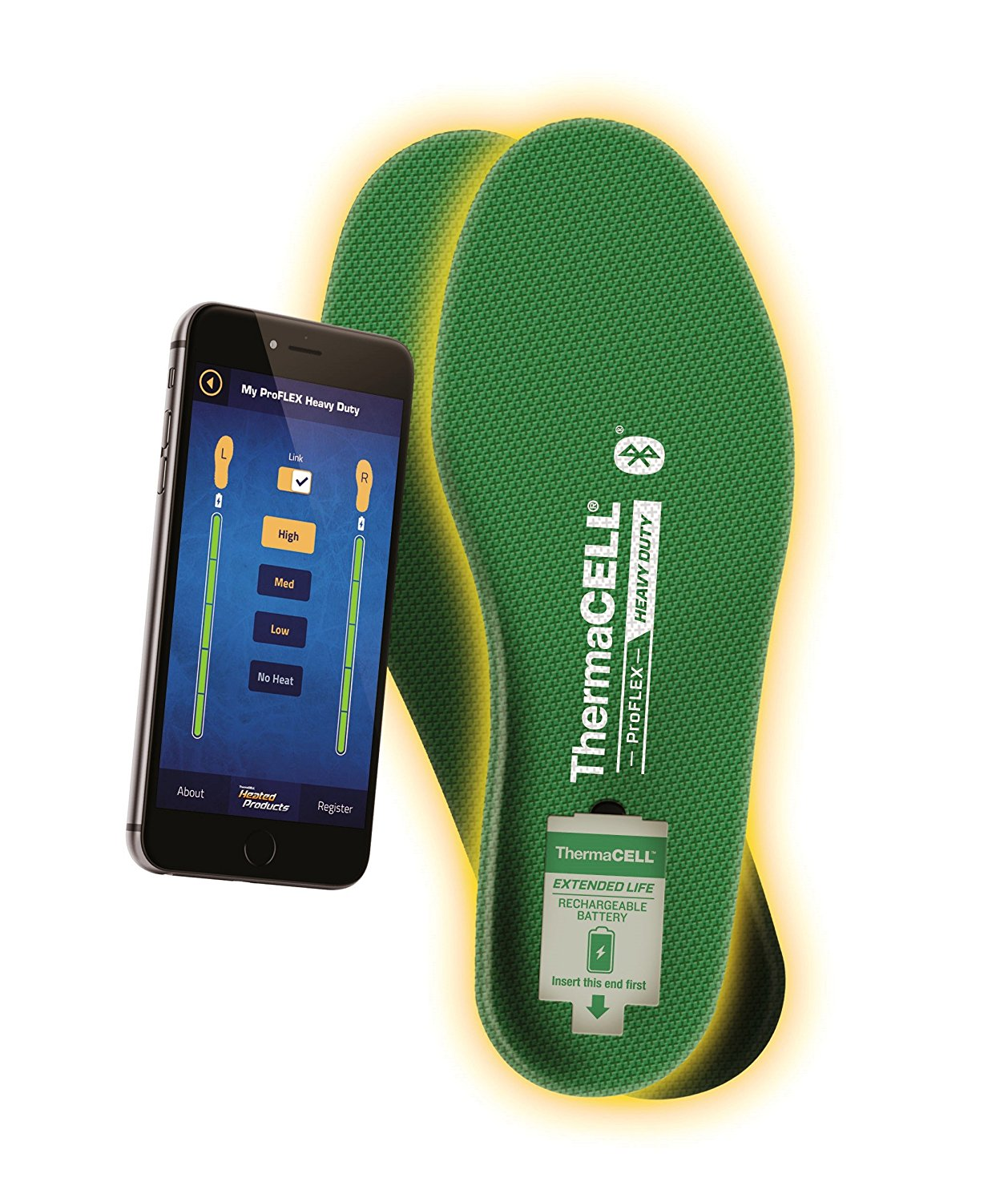 ThermaCELL Proflex Heated Shoe Insoles - Electric Socks