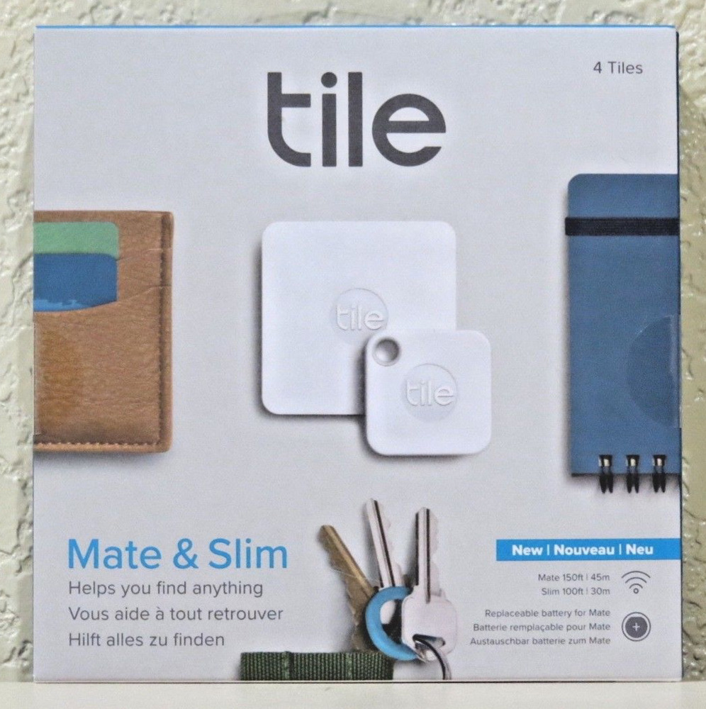 Tile Mate & Slim Combo Trackers (4-Pack) NEW> SEALED>FREE ...