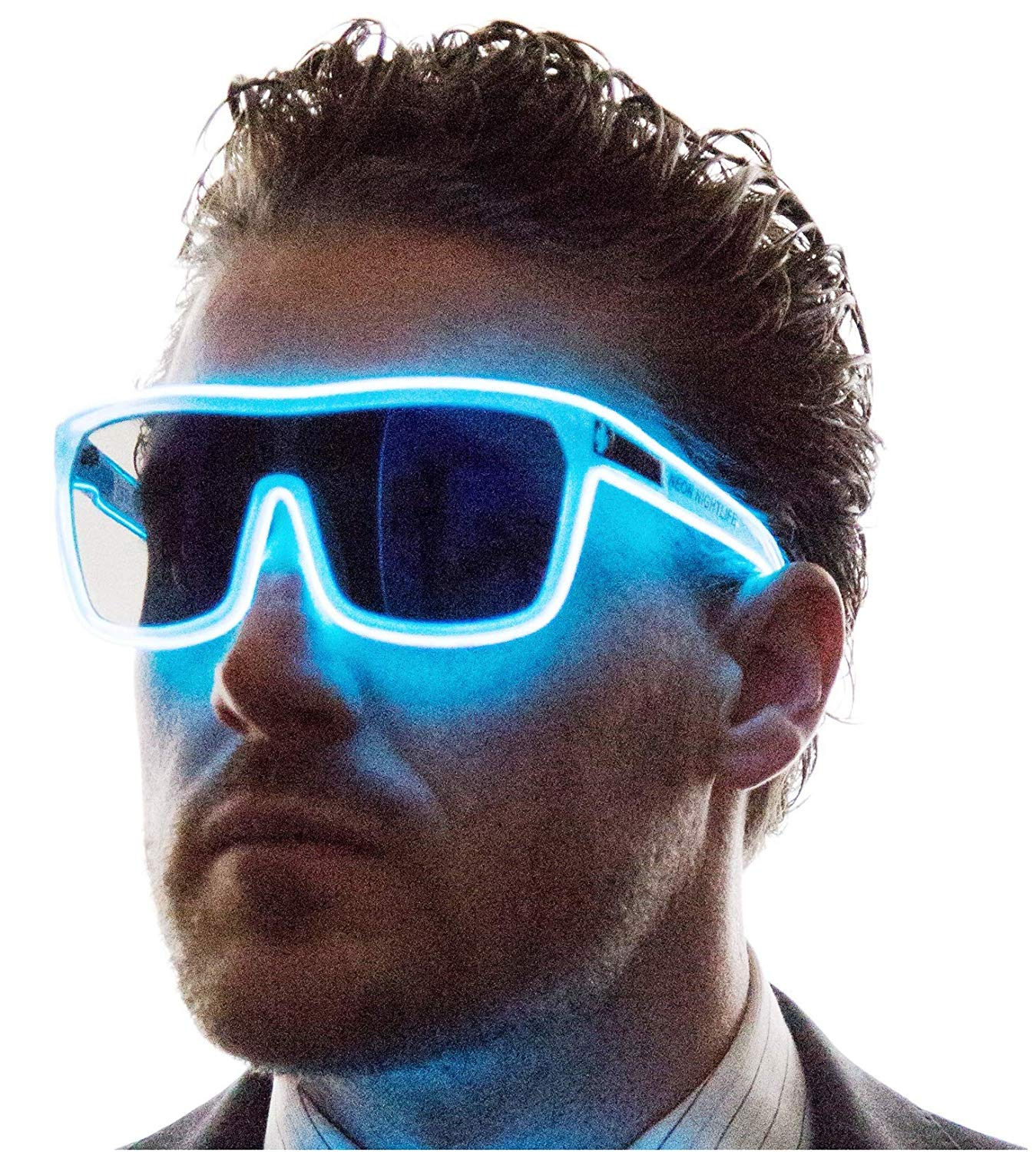 Tinted Single Lens Tron Style Light Up Glasses