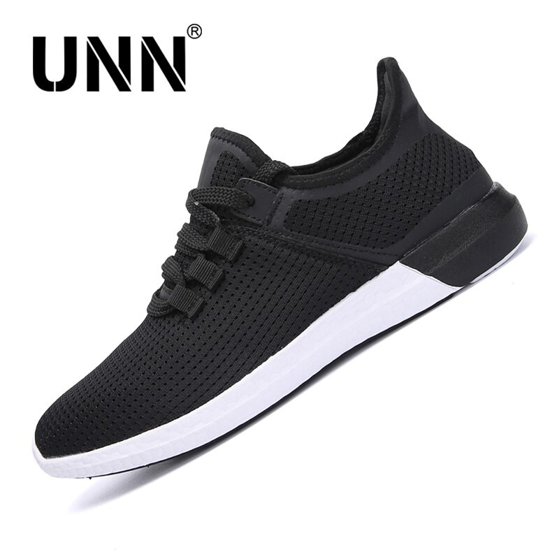 UNN Men Mesh Running Shoes Lace Up Summer Breathable Soft ...