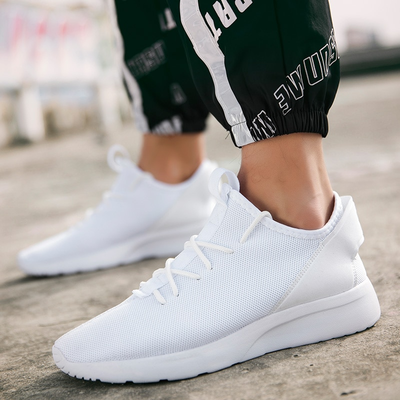UNN White Sneakers Men Shoes Mesh Breathable Light Running ...
