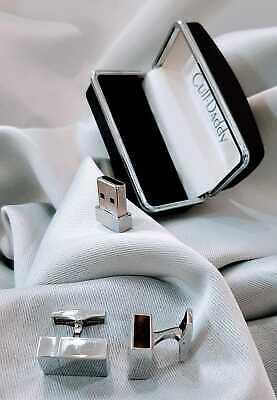USB Cufflinks 4gb Stainless Steel Working Flash Drive + Box New Men Laptop DOK