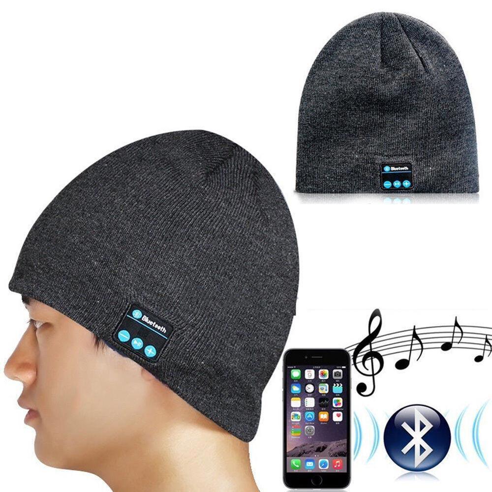 Warm Bluetooth Music Hat Cap Speaker Headset Headphones ...