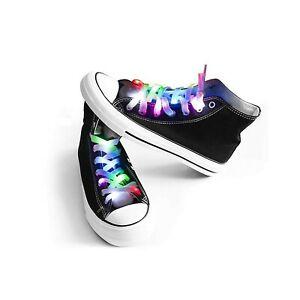 Waspt LED Light Multicolor Shoelaces Battery Powered Nylon Shoestring Lightin... 602191050798 | eBay