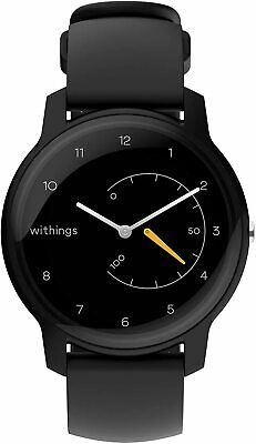Withings Move - Activity Tracking Watch, 38mm, Black & Yellow,