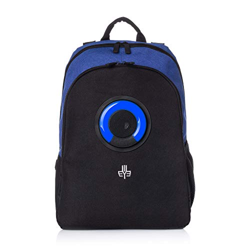 WOWmazing Backpack with Detachable Bluetooth Speaker (Blue)