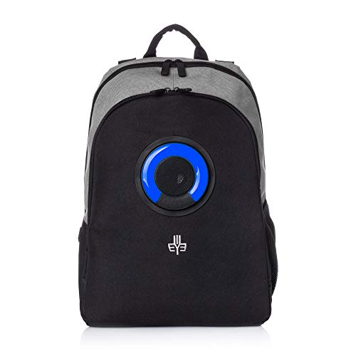 WOWmazing Backpack with Detachable Bluetooth Speaker (Gray)