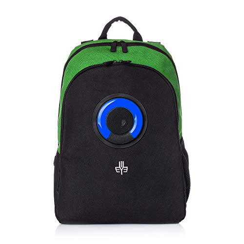 WOWmazing Backpack with Detachable Bluetooth Speaker (Green)