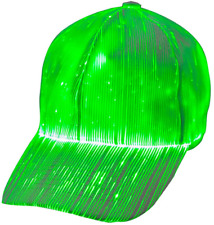 1Clienic Luminous Led Baseball Cap 7 Colors Glow Hat Unisex Dj Light Up Rave Fib