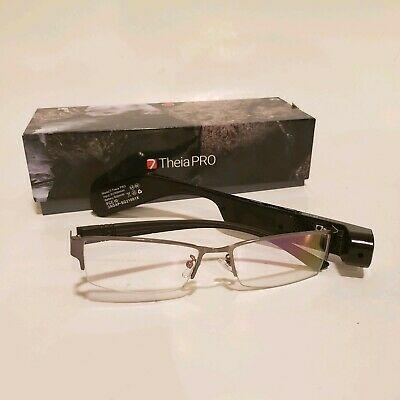 7 TheiaPro App Enabled Eyeglasses Camera Black AS IS