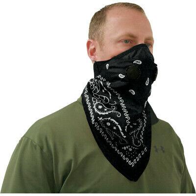 ATV-Tek Pro Series Bandana Face Mask (Paisley - Black)