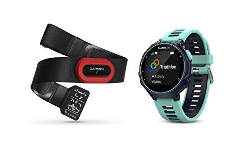 Garmin Forerunner 735XT Bundle, Multisport GPS Running Watch with Heart Rate, Includes HRM-Run Monitor, Midnight/Frost Blue