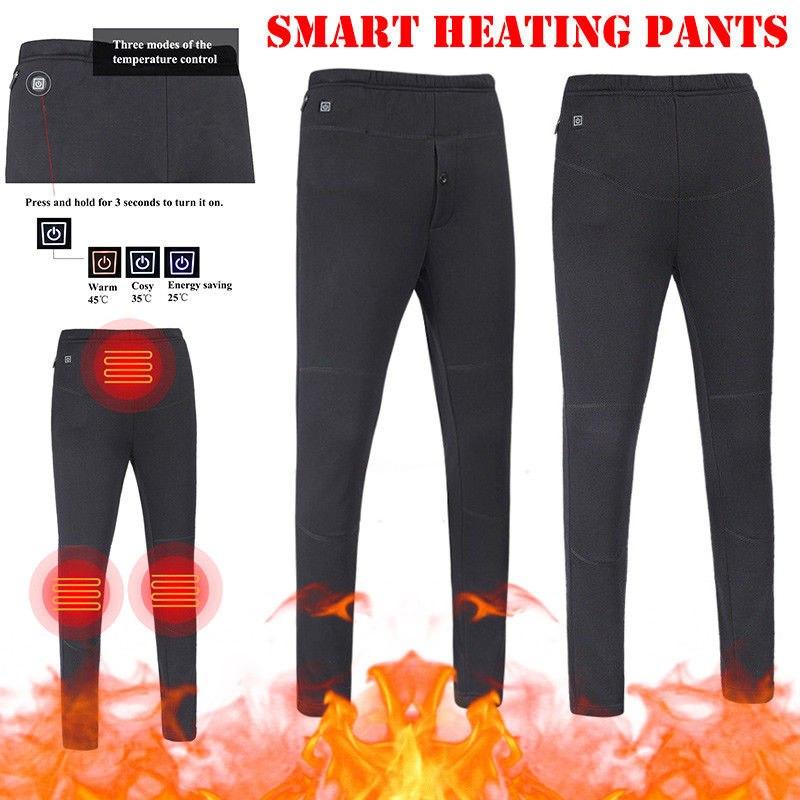 LEX - Electric Heated Warm Pants USB Heating Base Layer ...