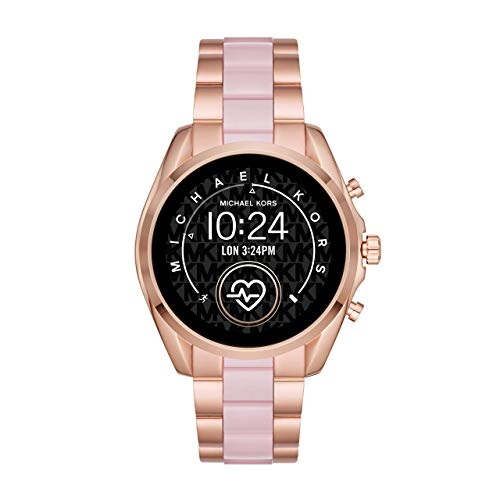 Michael Kors Access Women's Bradshaw 2 Touchscreen Stainless Steel Smartwatch, Rose Gold and Blush-MKT5090